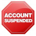 Account Suspended pon tak sedar..huu…